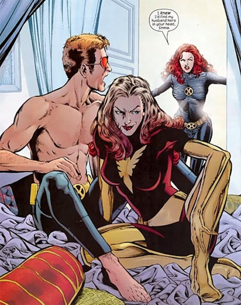 Cyclops gets it on with Emma Frost