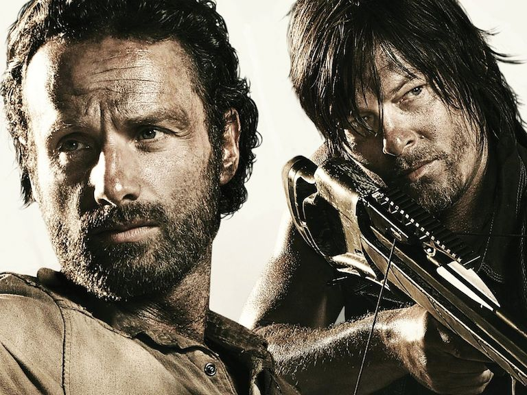 rick and daryl the walking dead