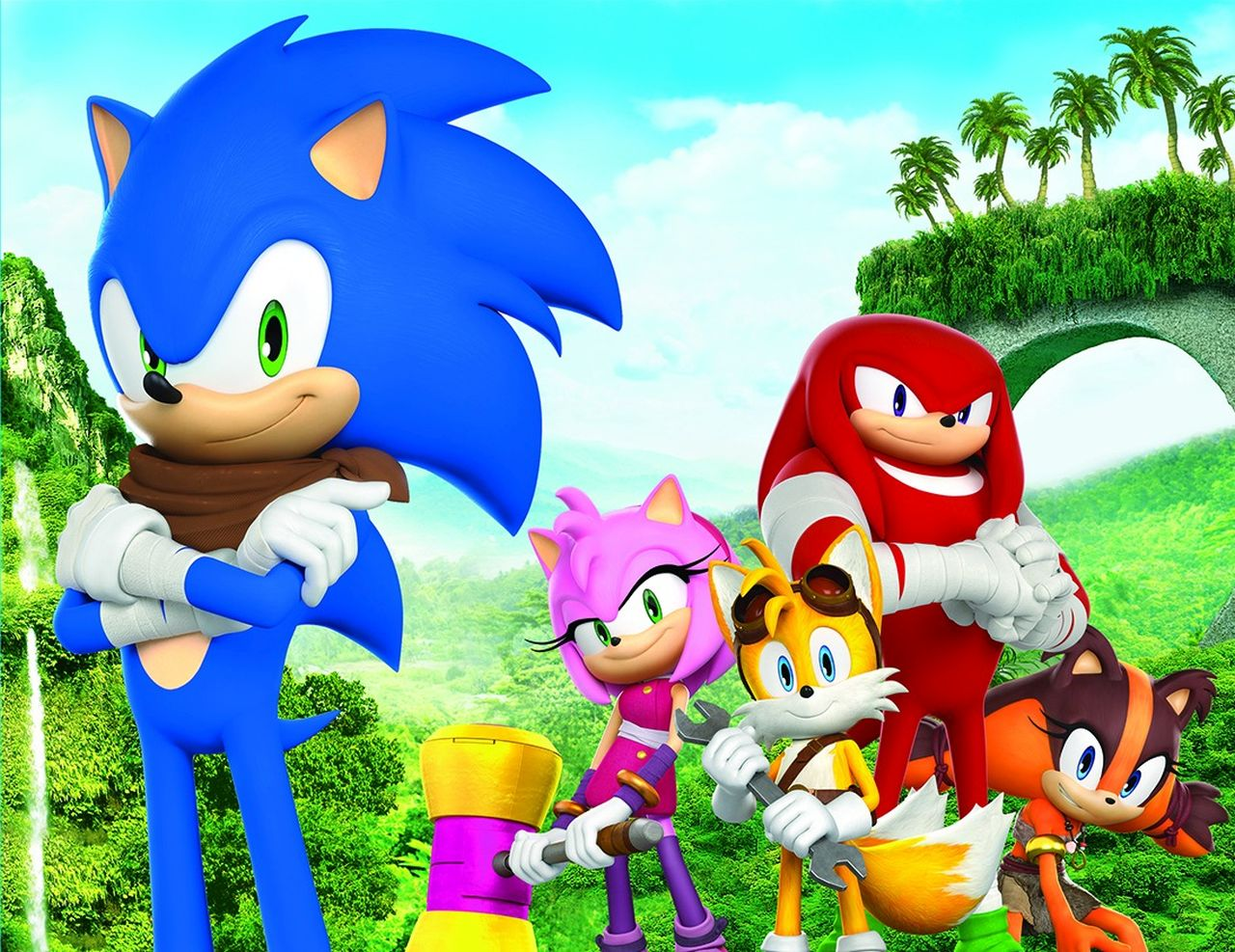 Sonic Boom Sticks with friends